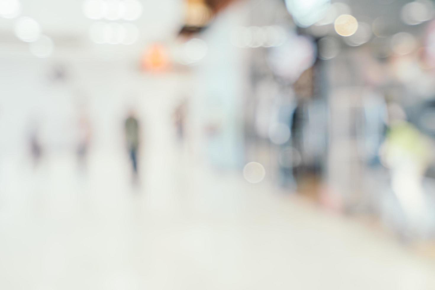 Abstrait arrière-plan intérieur du centre commercial défocalisé photo