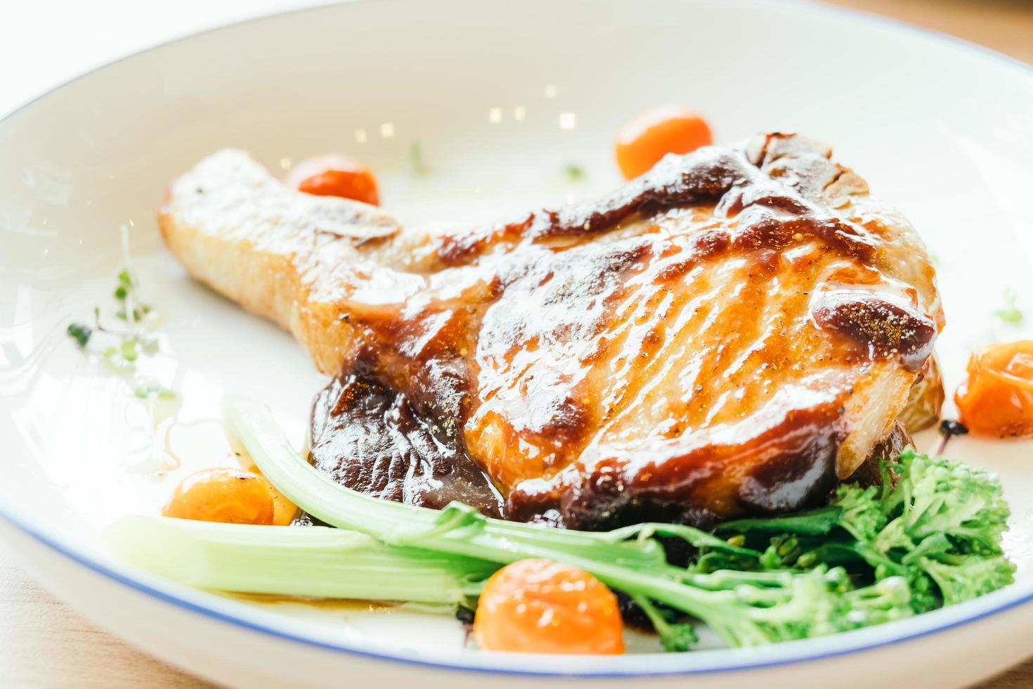 steak de côtelette de porc photo