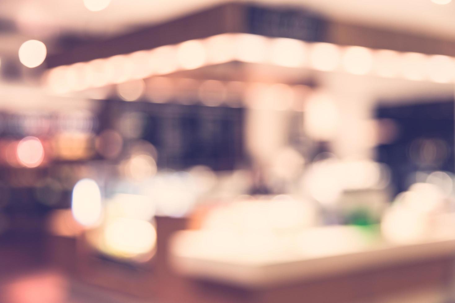 Fond de café flou abstrait - filtre vintage photo
