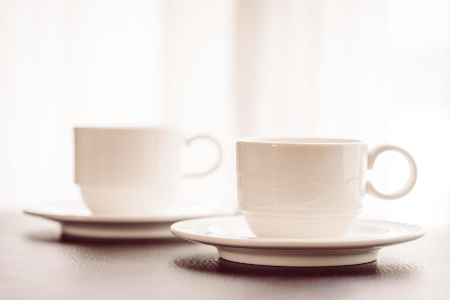 tasses à café blanches photo