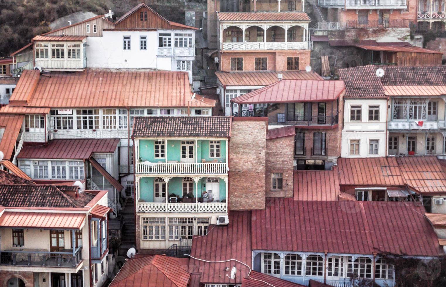 ancien quartier résidentiel en géorgie photo
