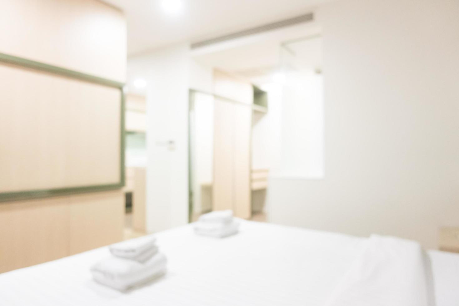 Intérieur de chambre d'hôtel flou abstrait photo