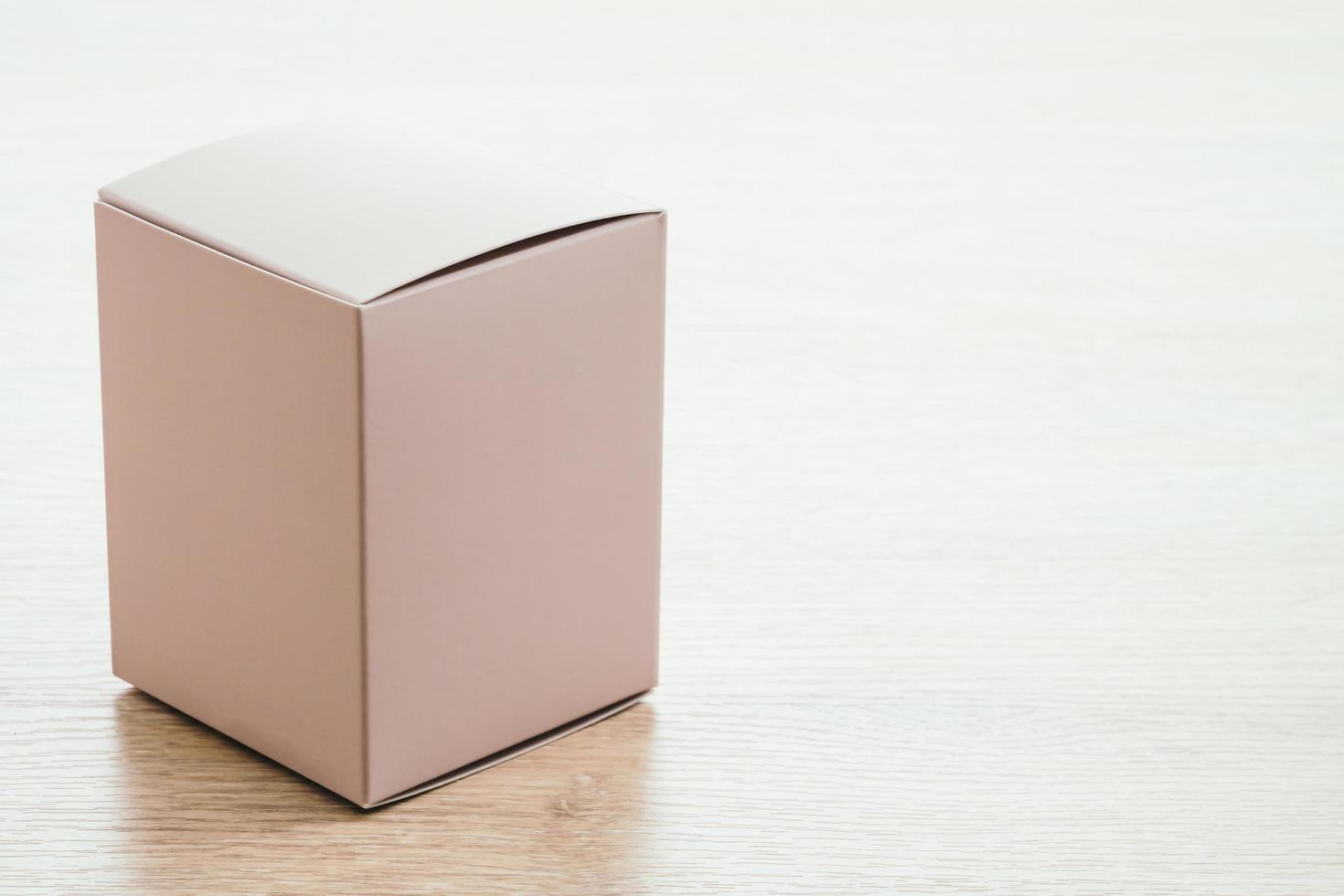 maquette de boîte de papier photo