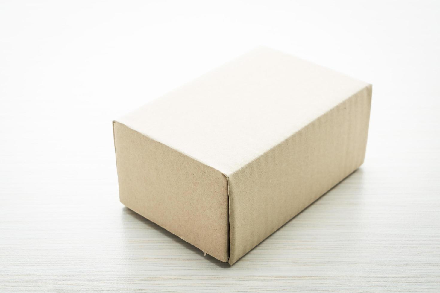 boîte brune maquette photo