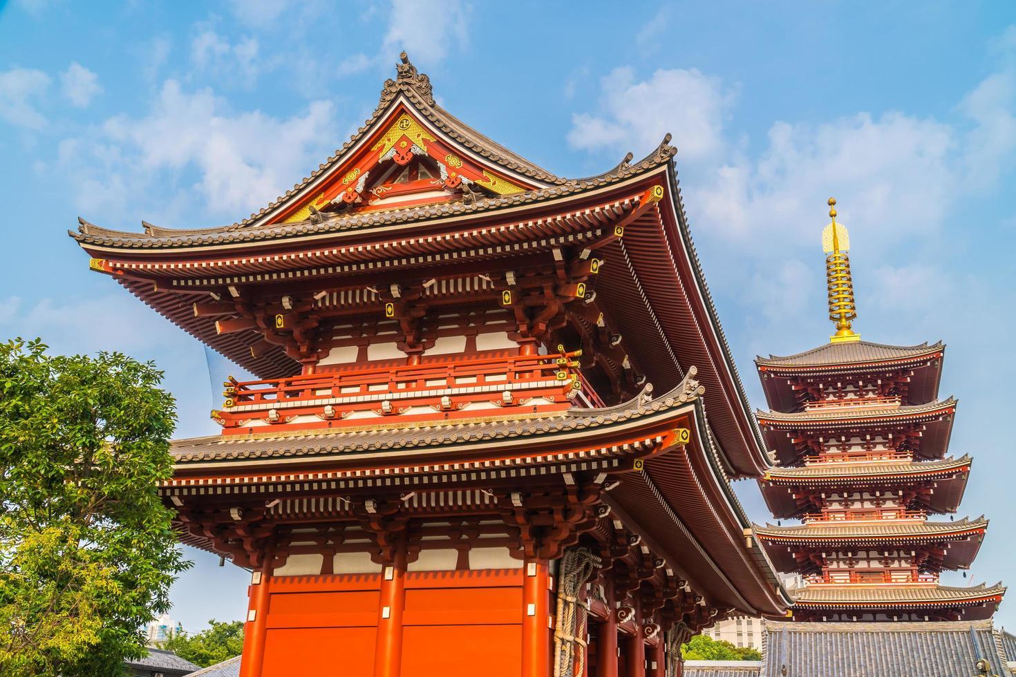 Temple Sensoji dans la région d'Asakusa de Tokyo, Japon photo