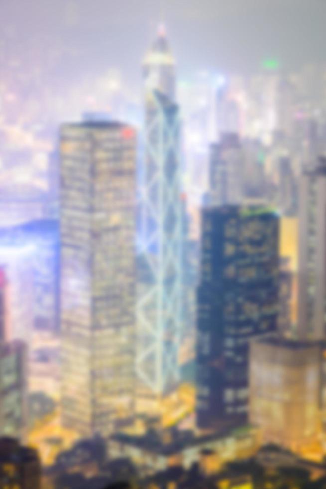 Skyline de Hong Kong défocalisé abstraite photo