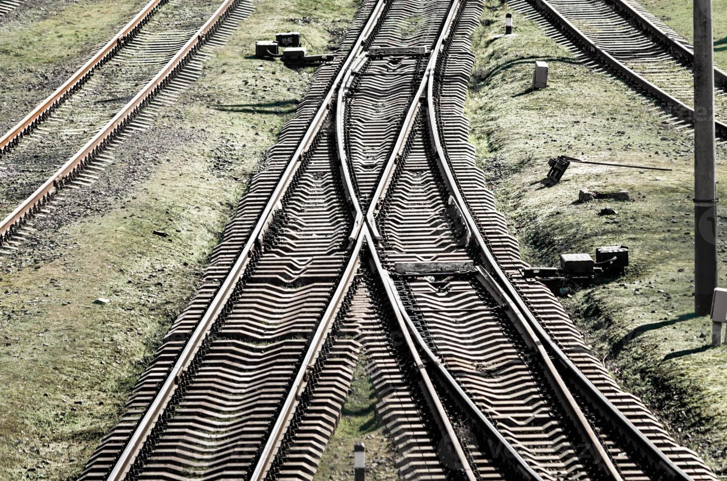 vieux chemin de fer vide photo