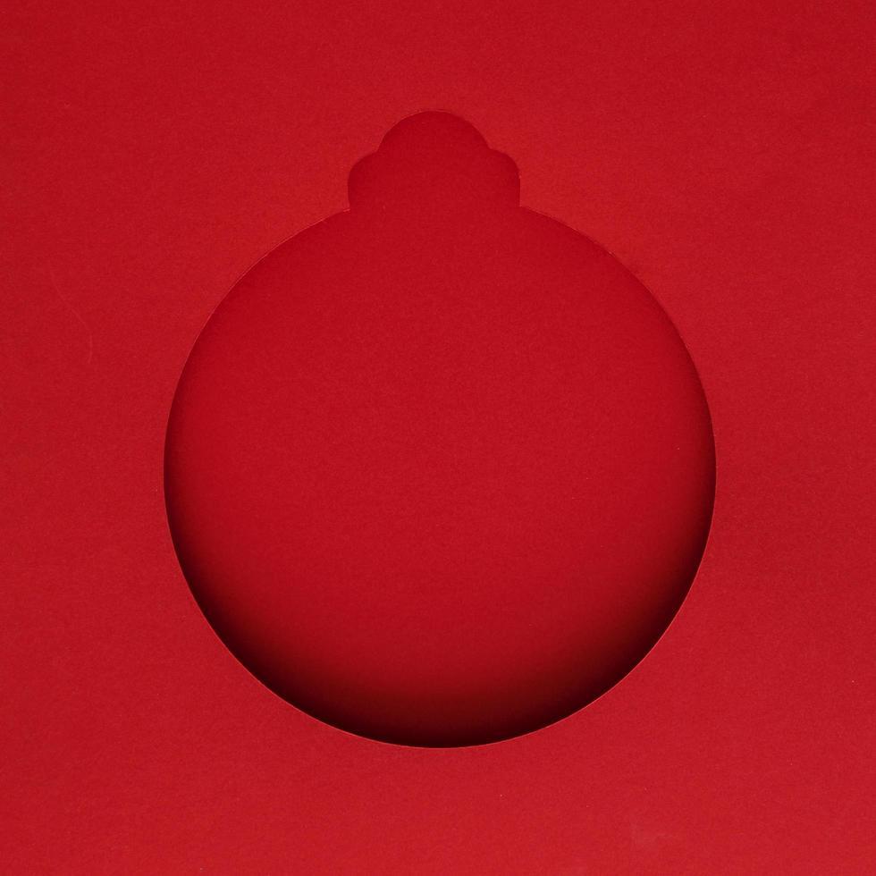 ornement en papier rouge pour carte de noël photo