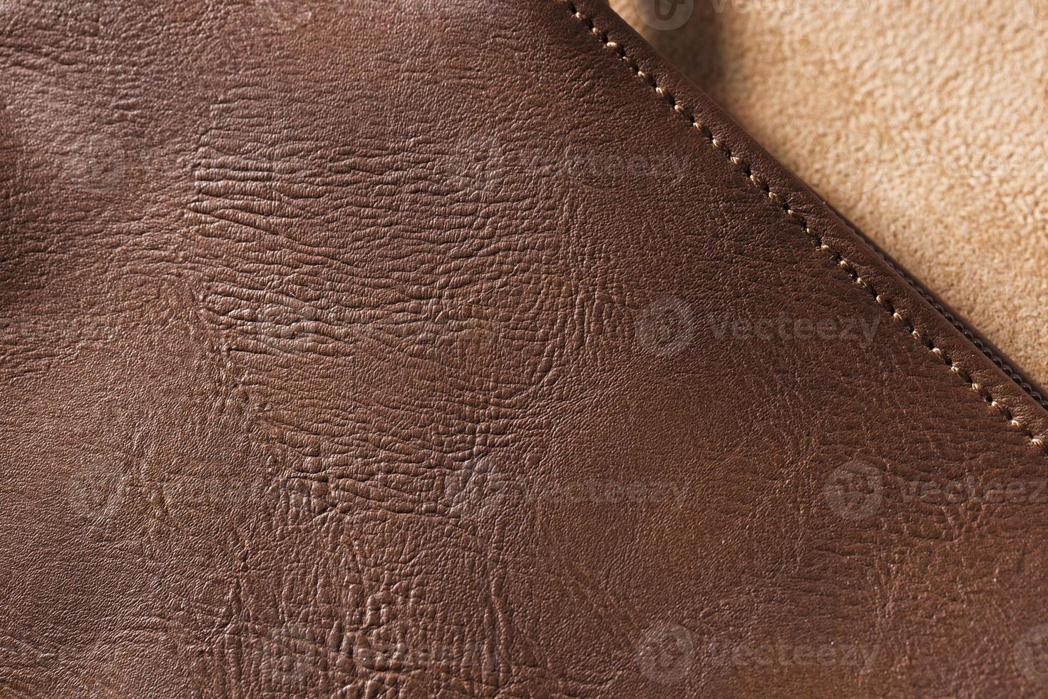 très gros plan de la texture du cuir de qualité photo