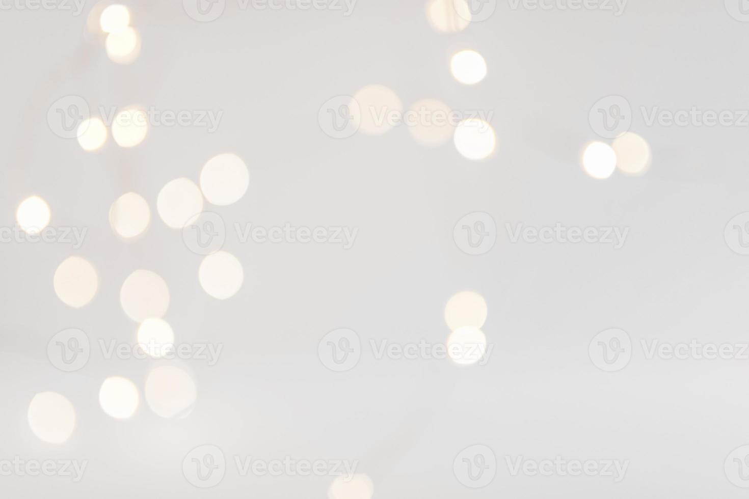 bokeh lumières fond blanc photo