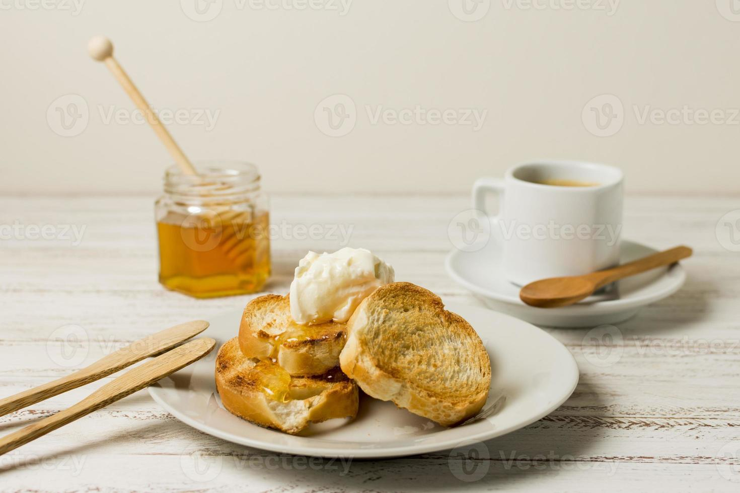 petit déjeuner avec du miel photo