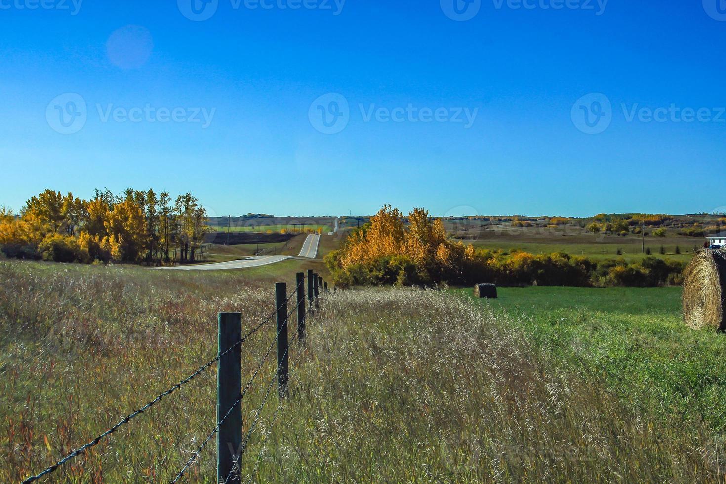couleurs d'automne et balles de foin photo