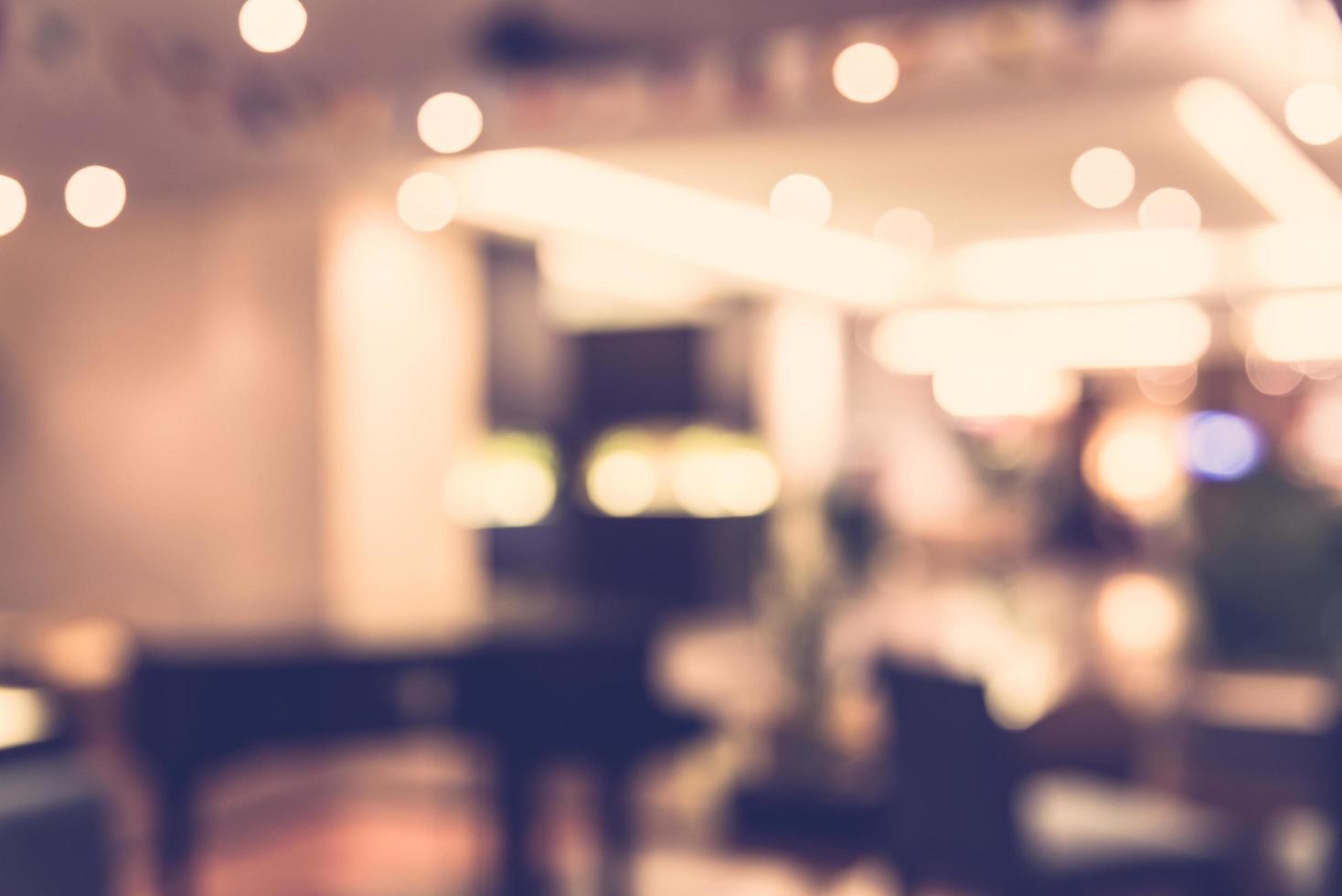 Fond de restaurant flou abstrait - filtre vintage photo