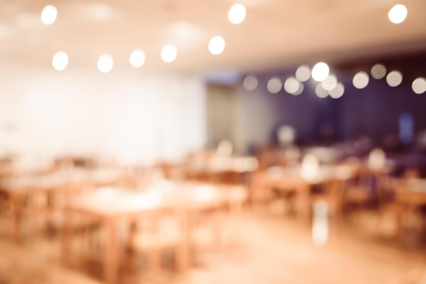 fond intérieur abstrait restaurant défocalisé photo