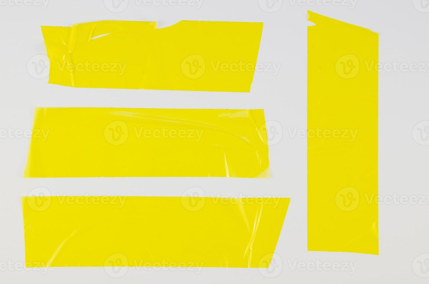 Ruban de canard jaune gros plan avec pose plate photo
