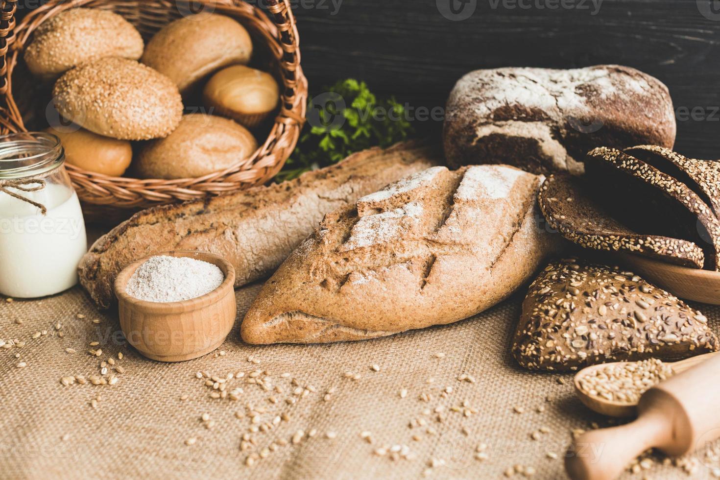 délicieux pain sain photo