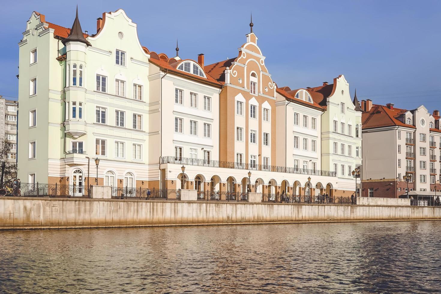 paysage urbain avec une belle architecture de la ville historique. photo