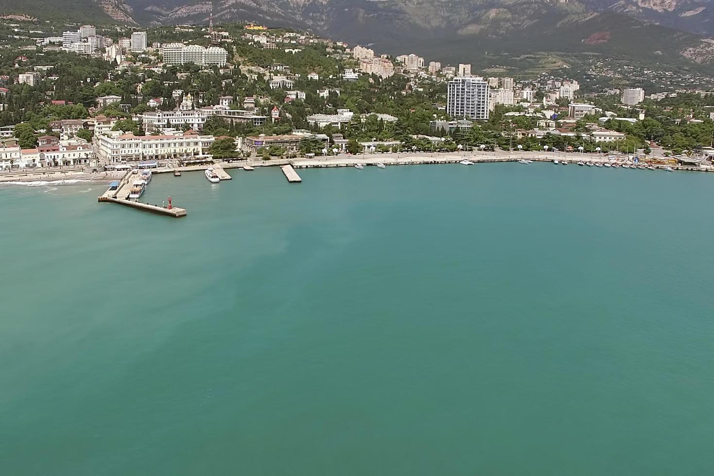 vue aérienne du paysage urbain. photo