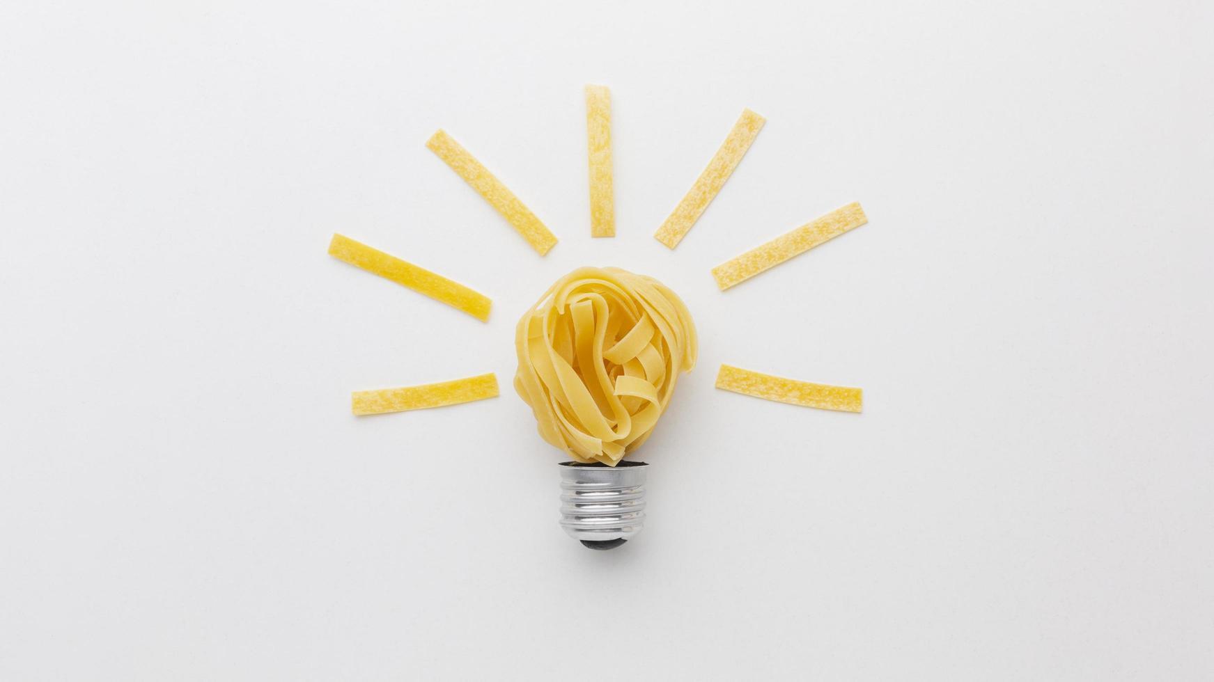 arrangement d & # 39; innovation abstraite à plat photo
