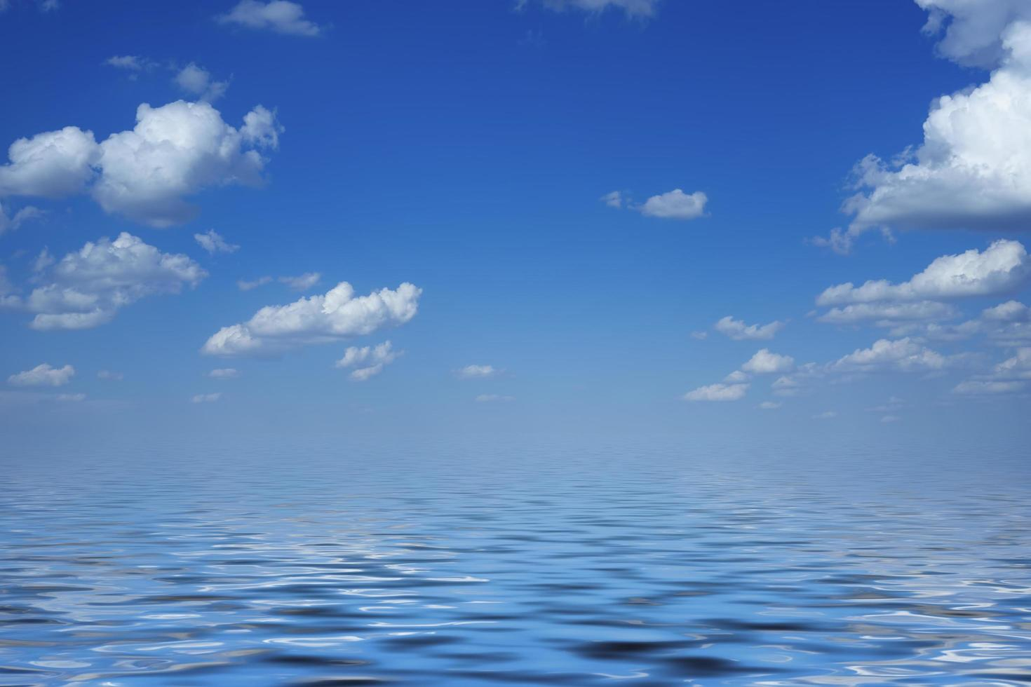 fond avec paysage marin sous le ciel bleu photo