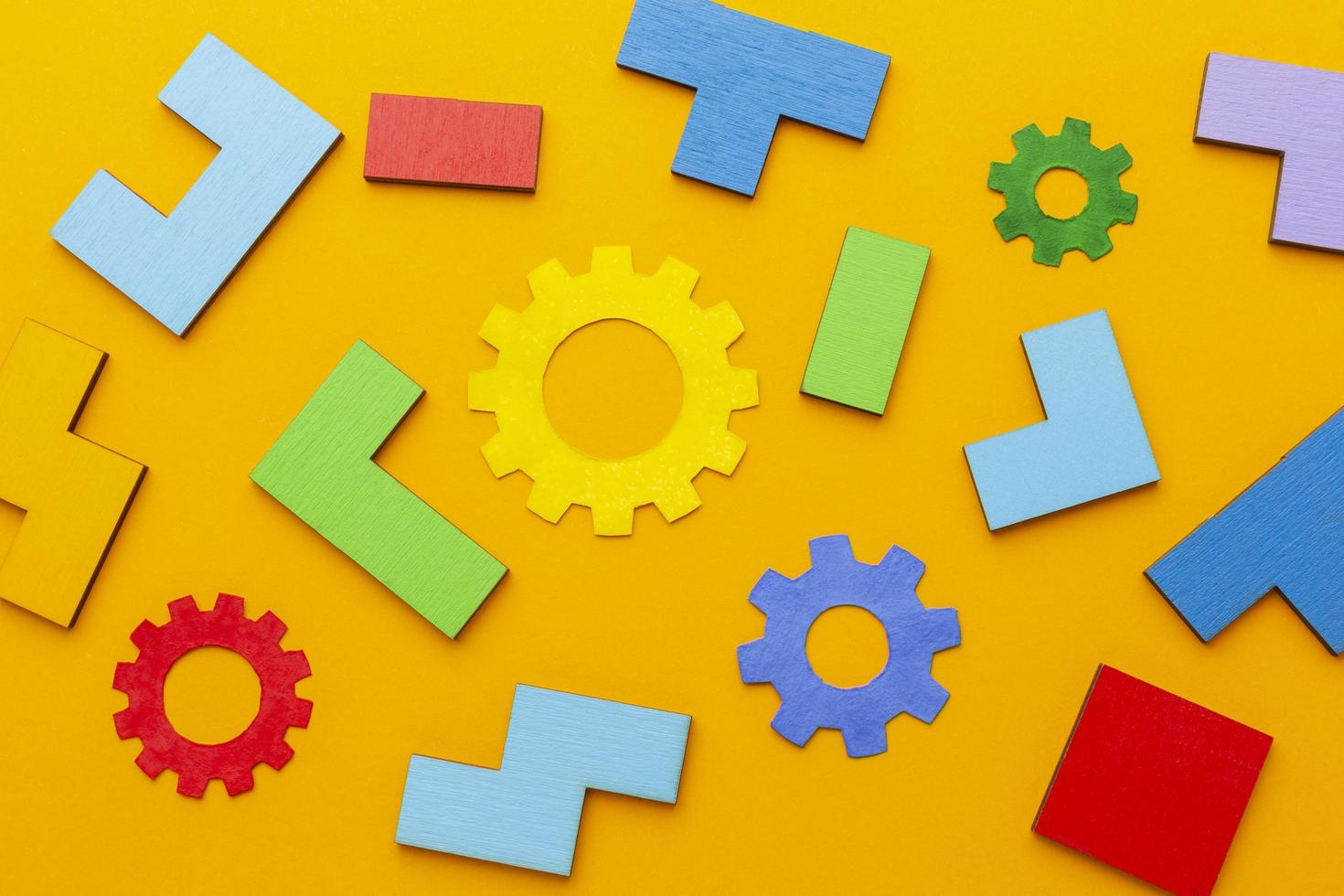 formes et pièces de puzzle photo