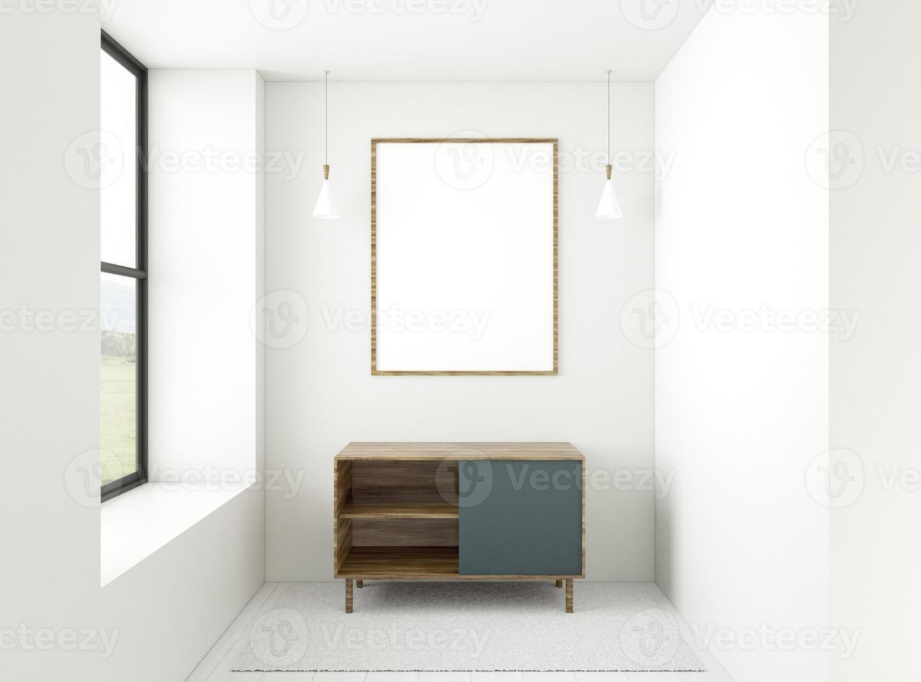 salle 3d minimale avec cadre élégant photo