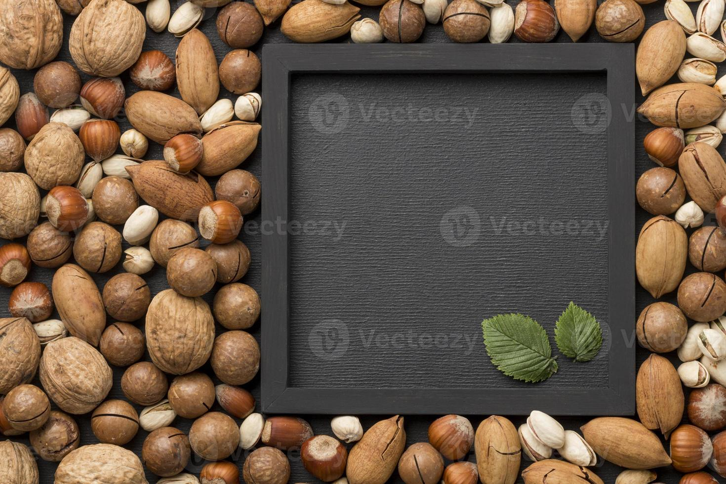 arrangement d'écrous avec espace de copie photo