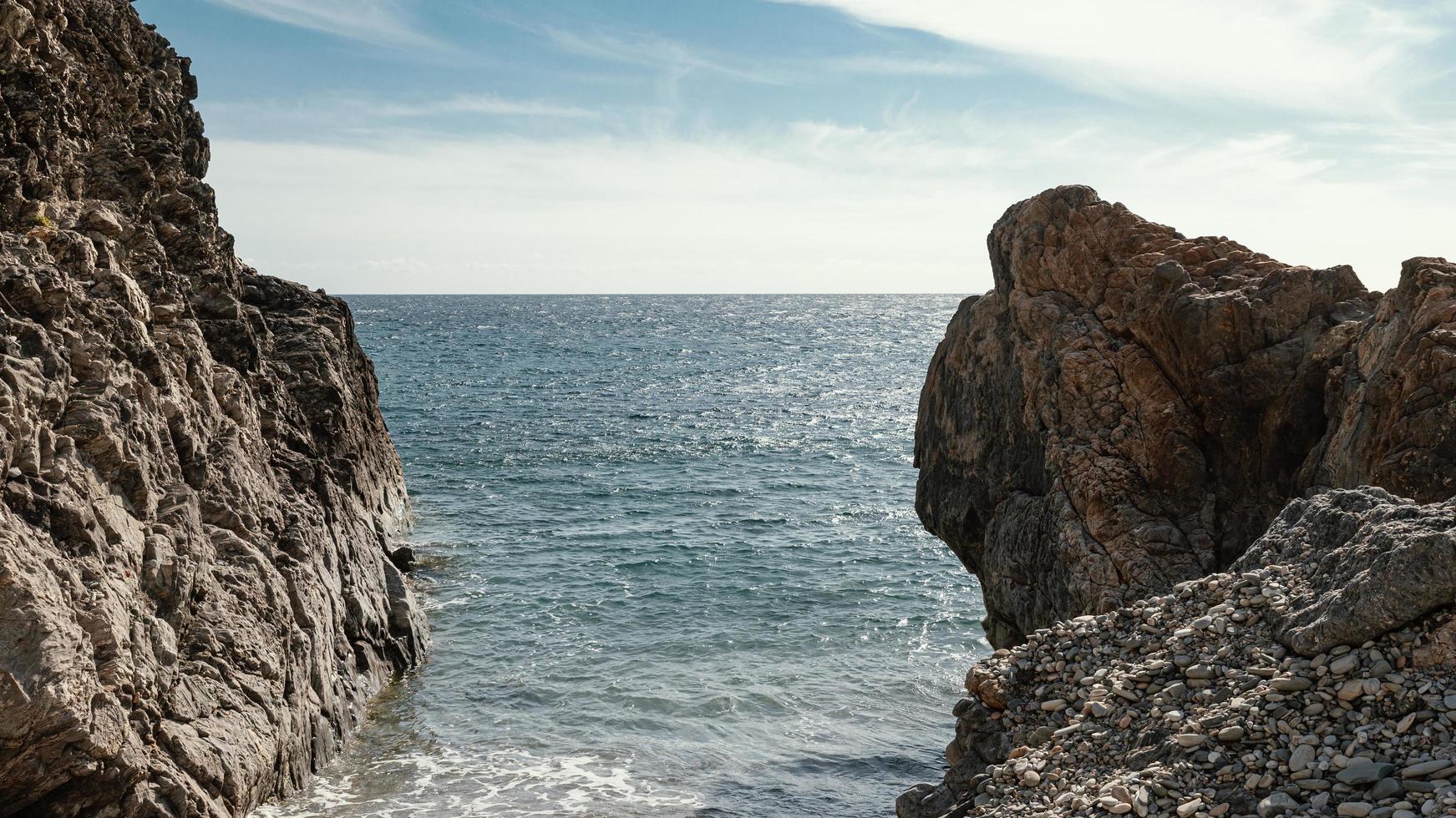 falaises sur l'océan photo