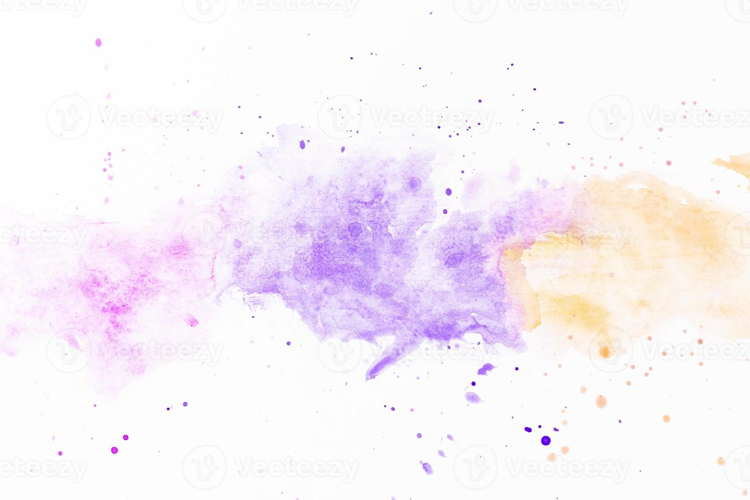 éclaboussures de peinture jaune violet photo