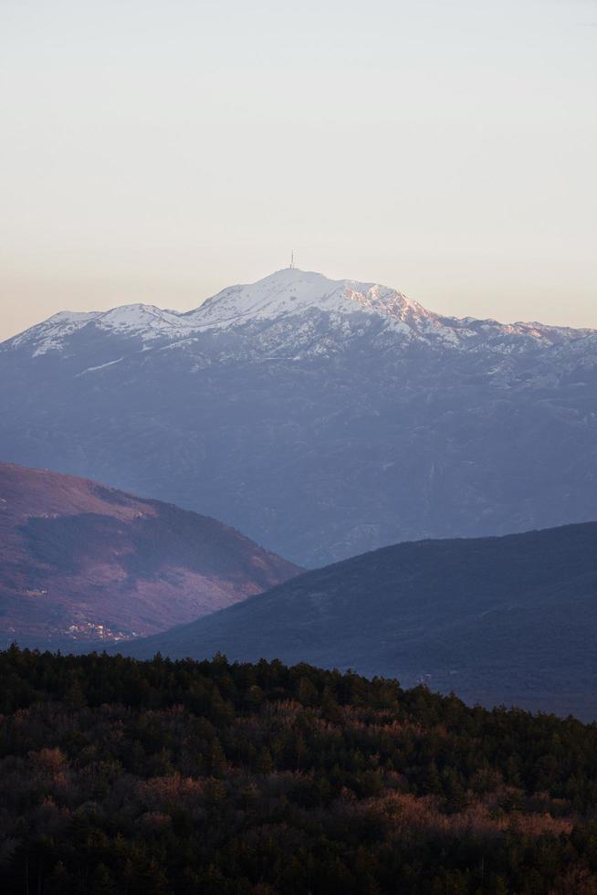 portrait vue montagnes photo