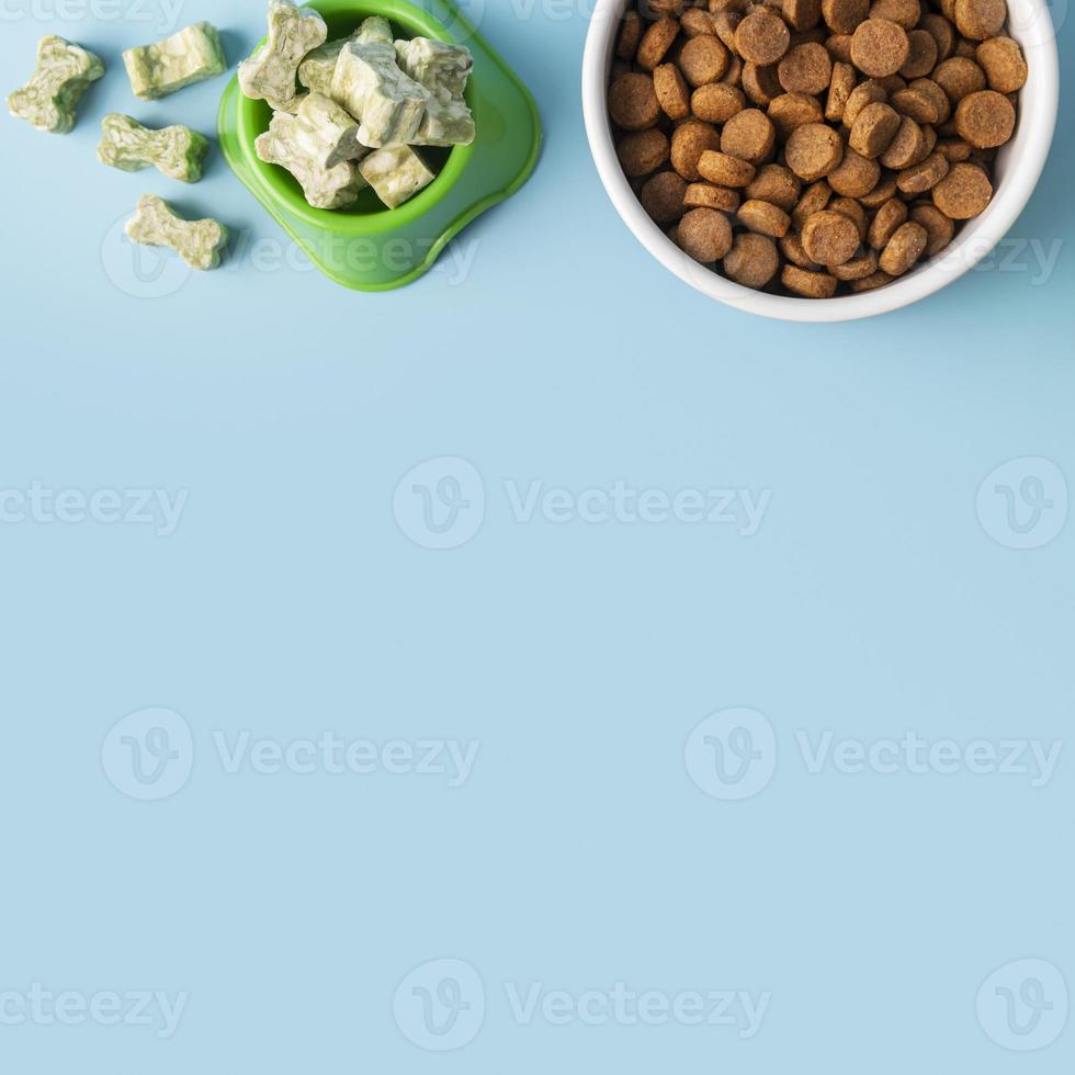 Accessoires pour animaux encore la vie avec des bols de nourriture photo