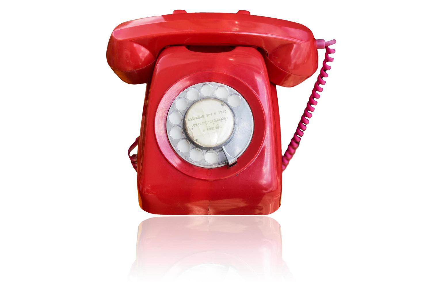 téléphone antique sur fond blanc photo