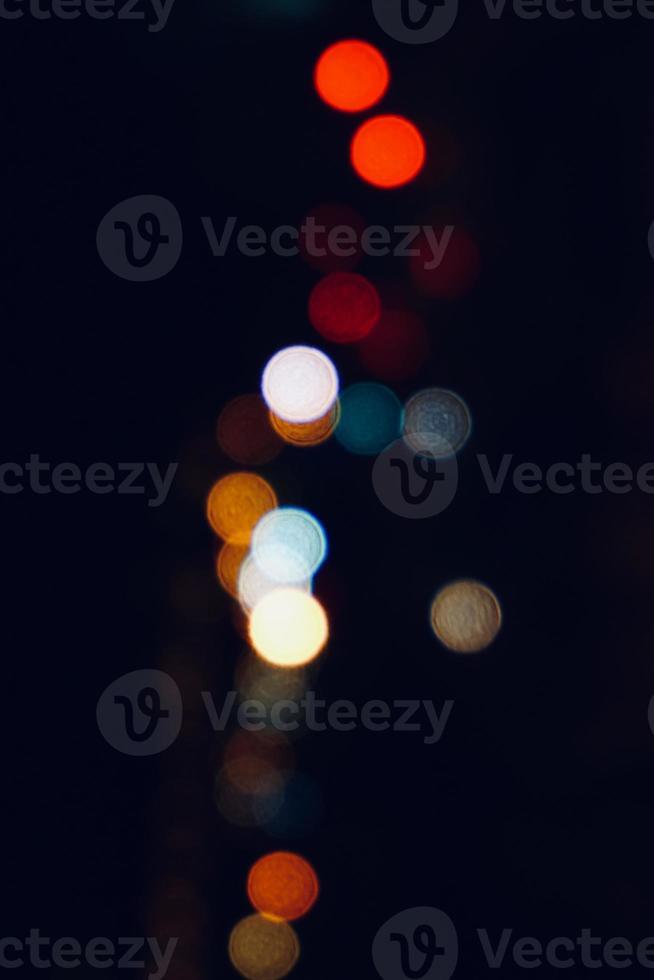 réverbères colorés la nuit photo