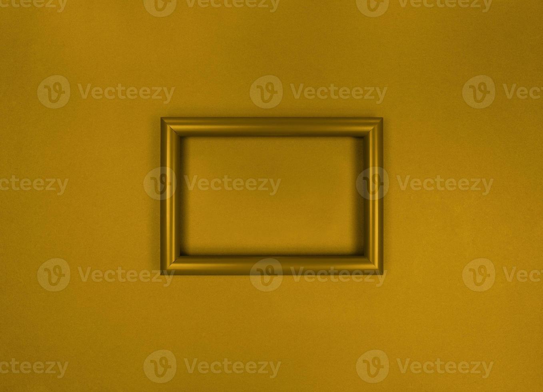 cadre sur le mur photo monochrome jaune minimaliste