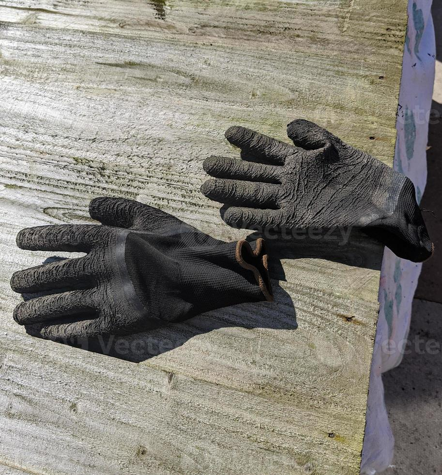 gants de travail noirs photo