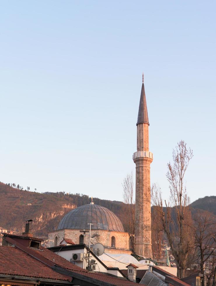 belle mosquée lieu de culte musulman photo