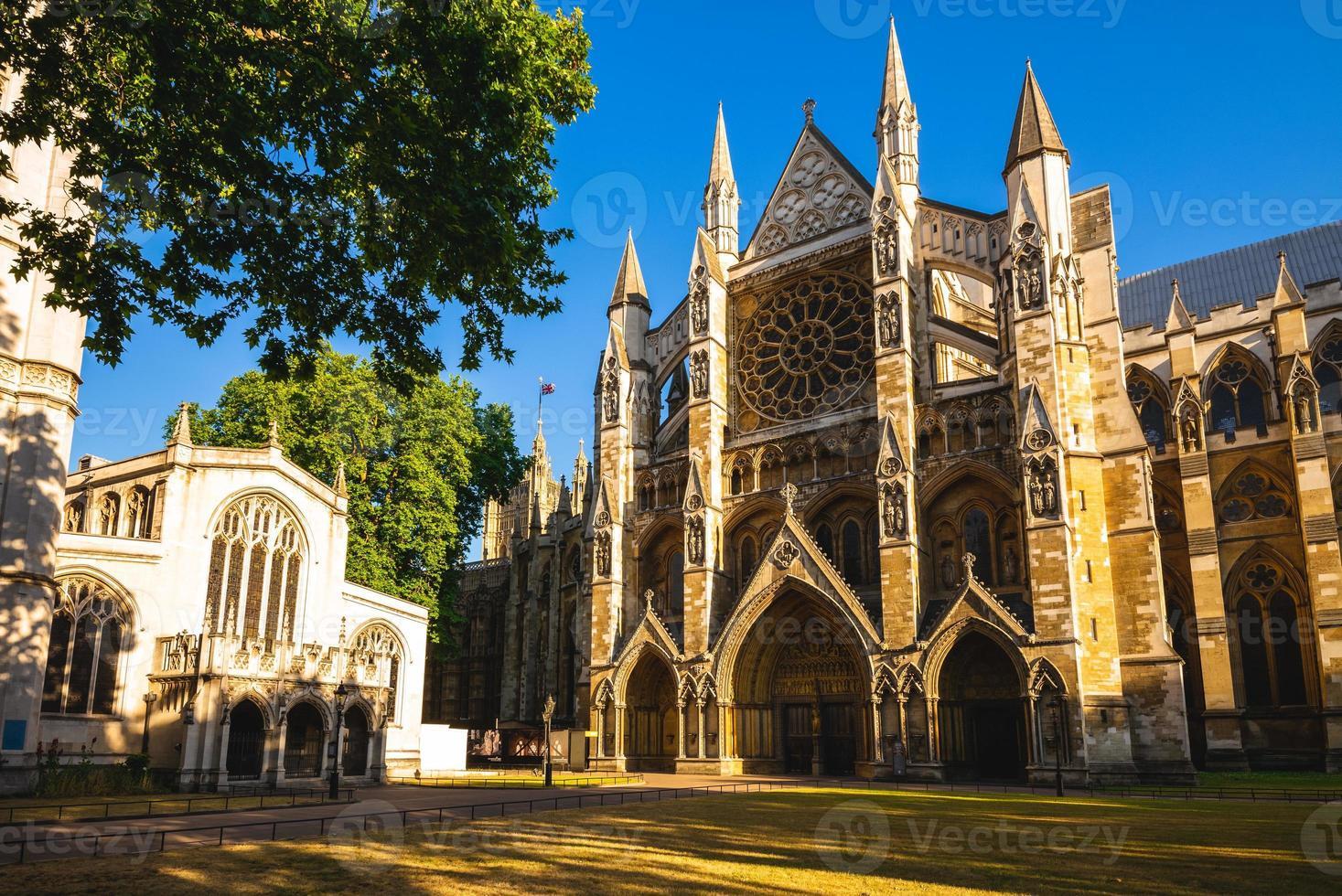Façade de l'abbaye de Westminster à Londres, Angleterre, Royaume-Uni photo