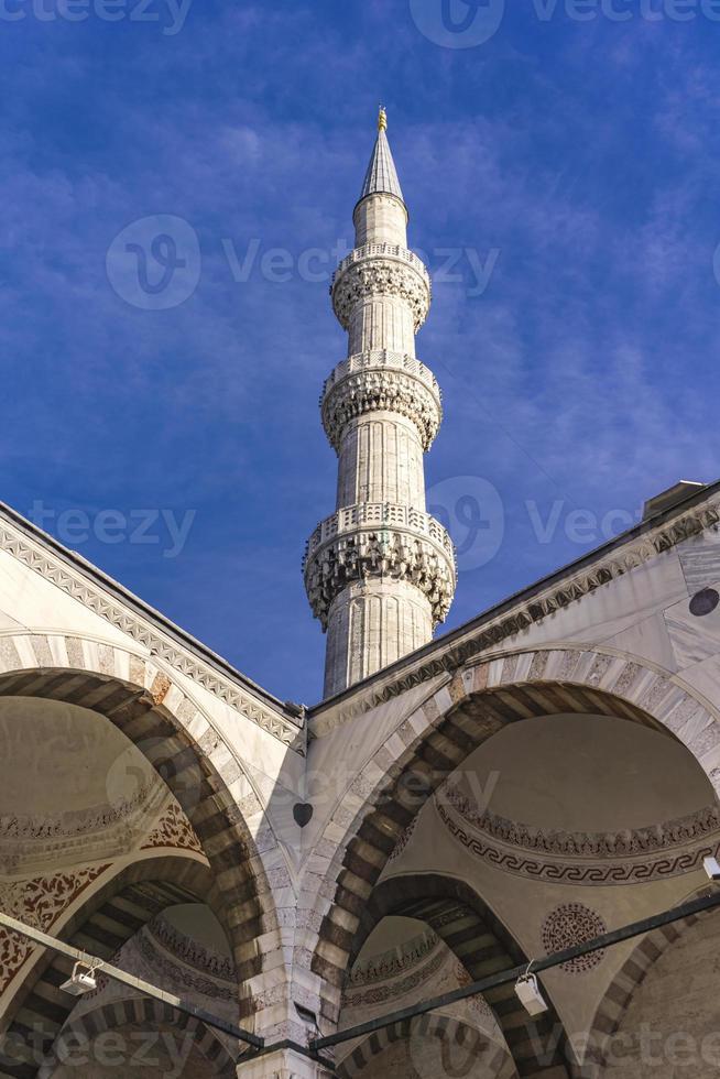 Cour de la mosquée de Suleymaniye à Istanbul Turquie photo