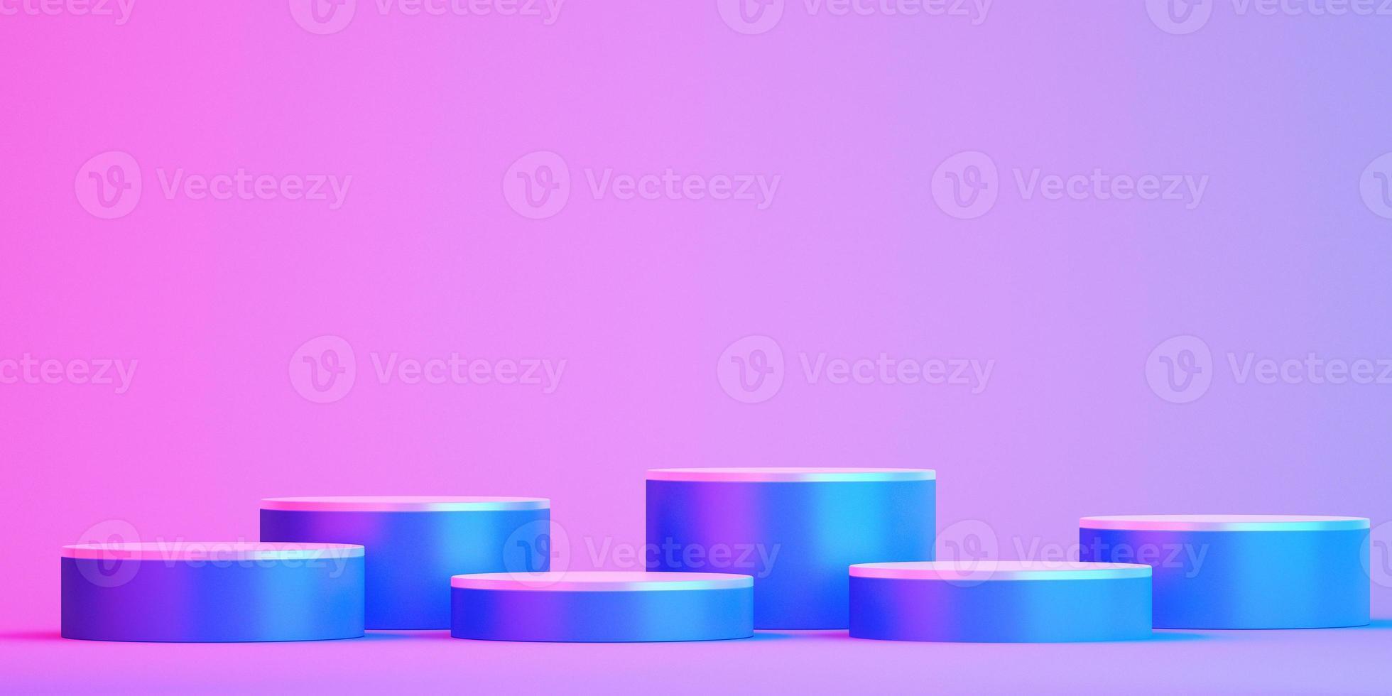 Maquette de podium 3d pour la présentation du produit sur fond coloré photo