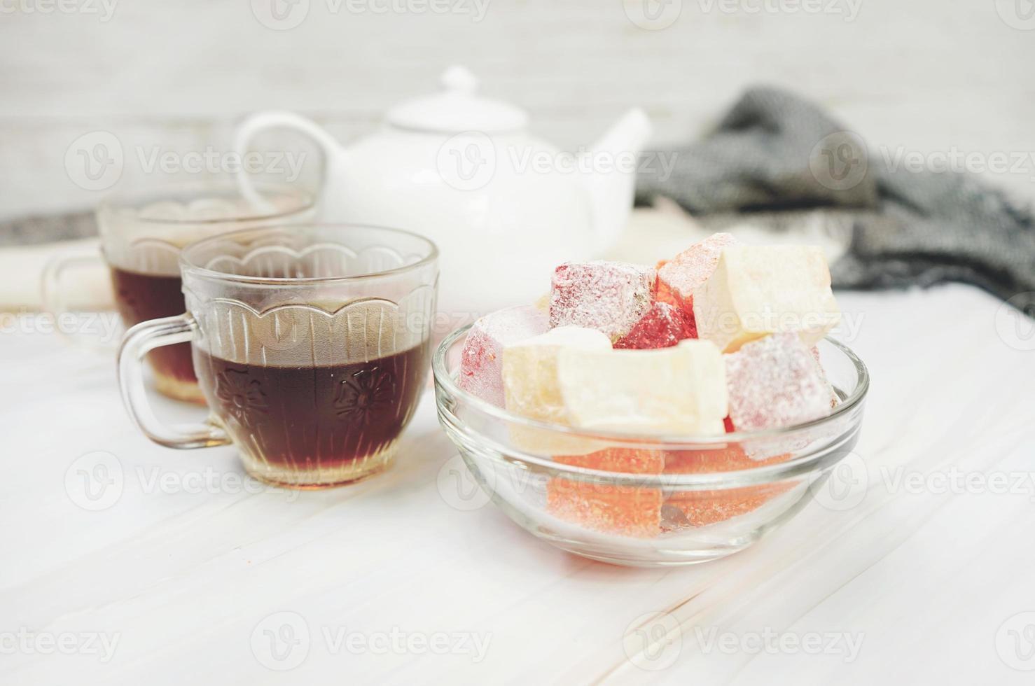 délicieux délices turcs au thé rouge photo