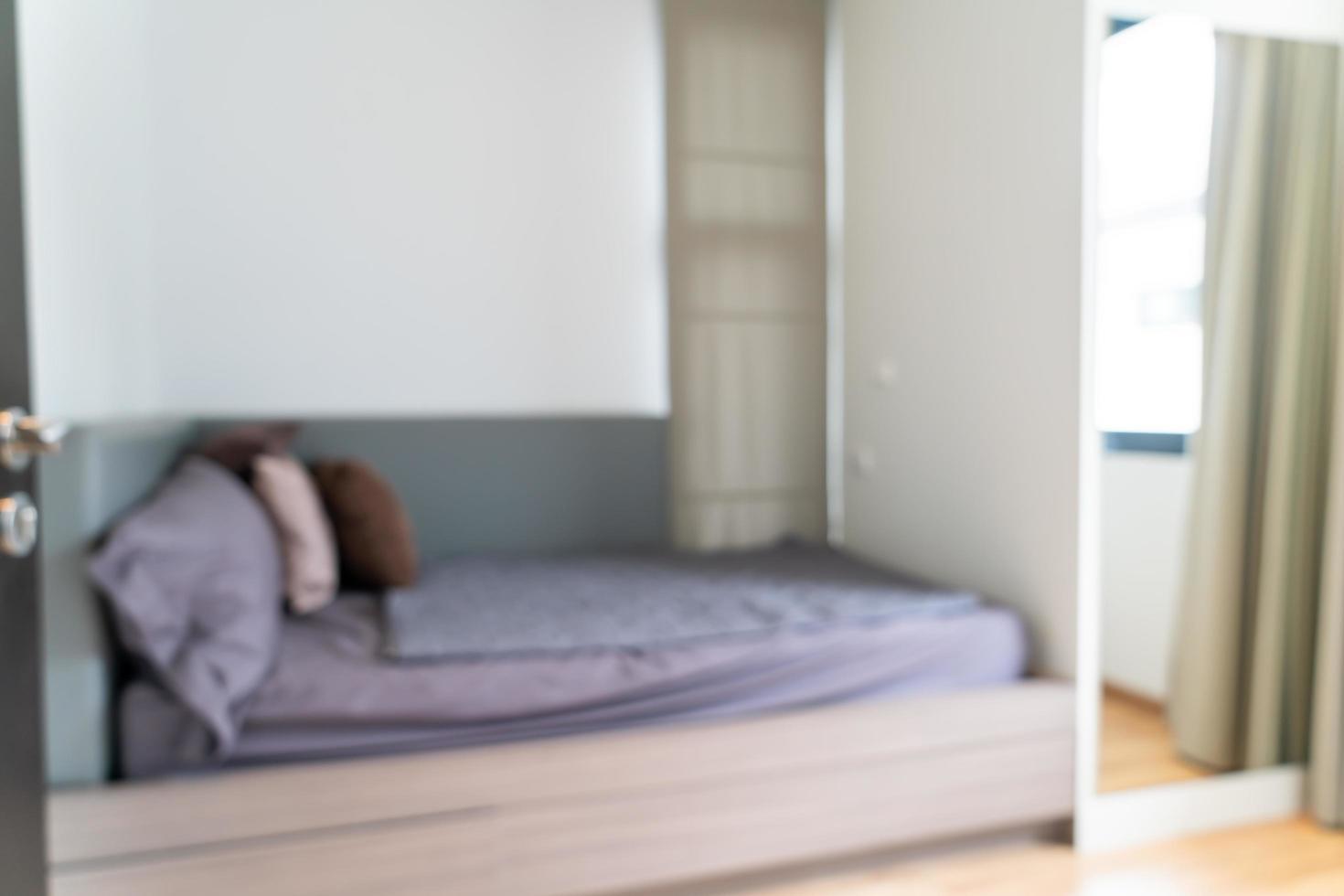 flou abstrait intérieur de la chambre pour le fond photo