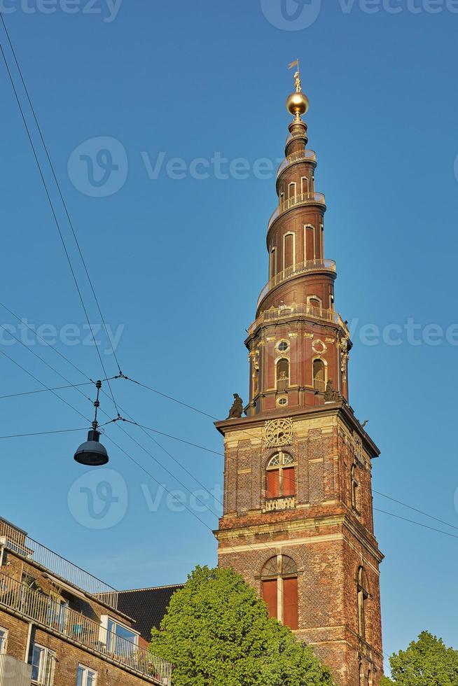 Détail de l'église de notre sauveur à Copenhague, Danemark photo