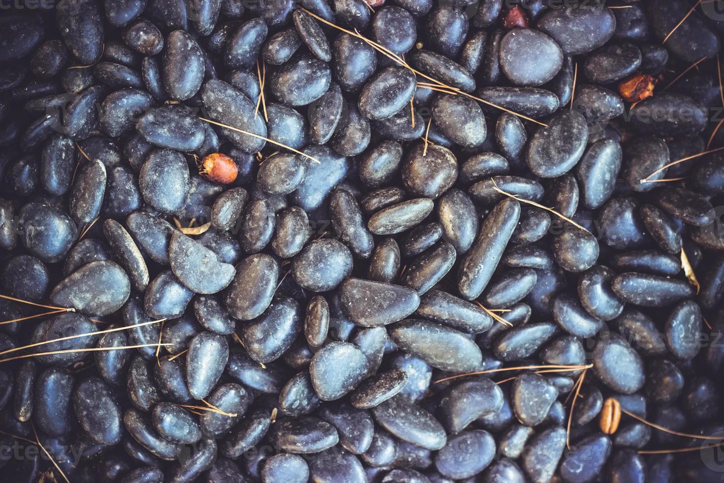 cailloux noirs beau fond de texture avec espace de copie photo