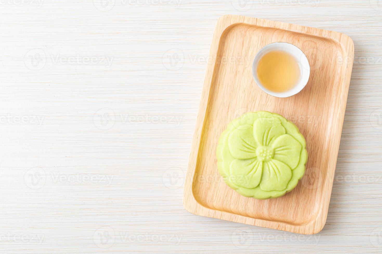 saveur de thé vert gâteau de lune chinois photo