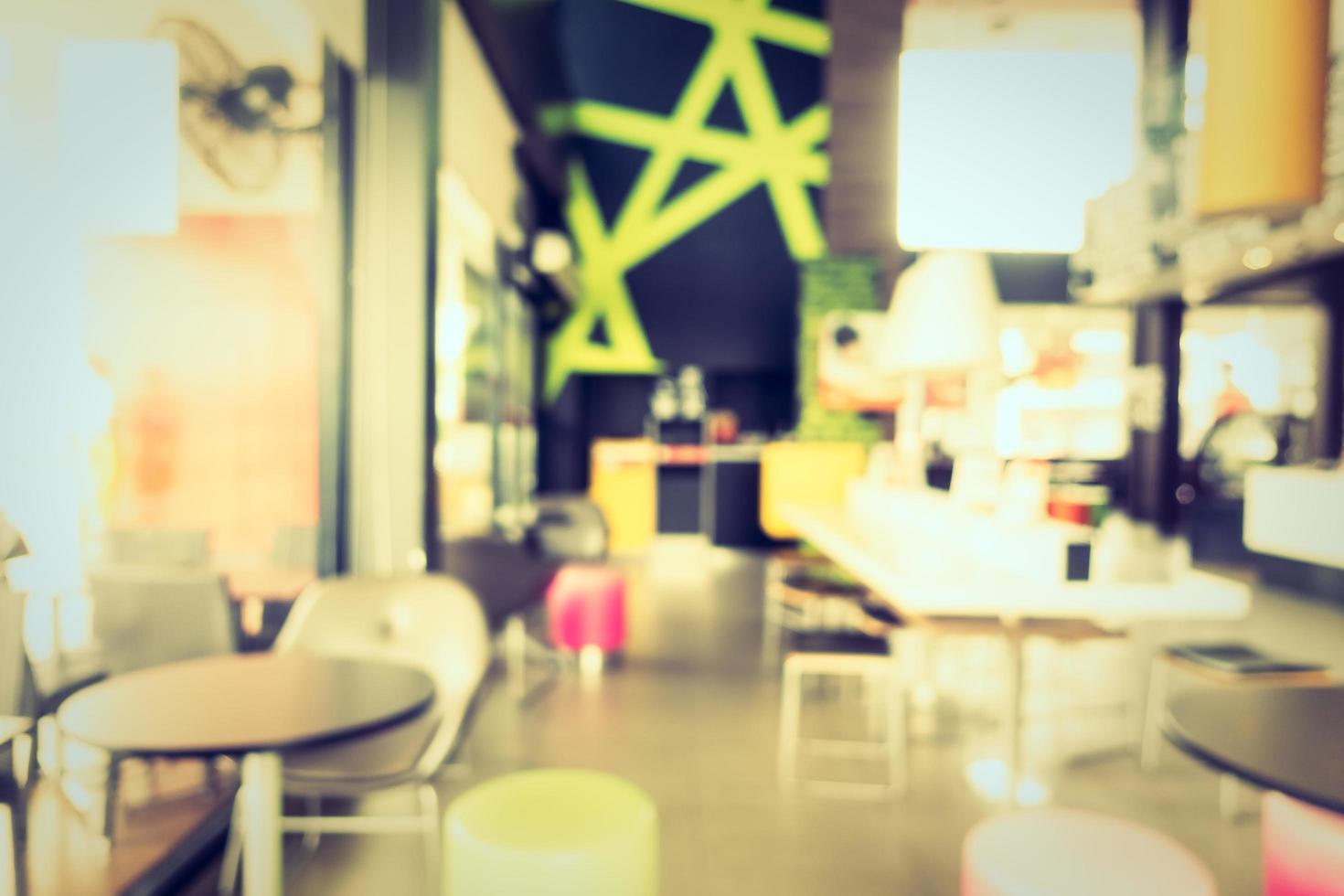 café et restaurant flou abstrait et bokeh photo