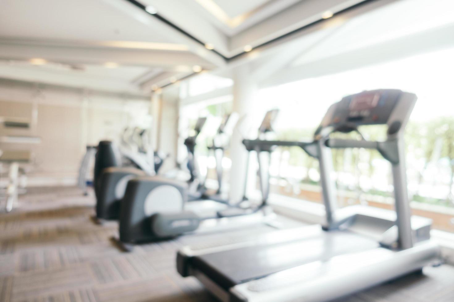 équipement de fitness flou abstrait et défocalisé photo