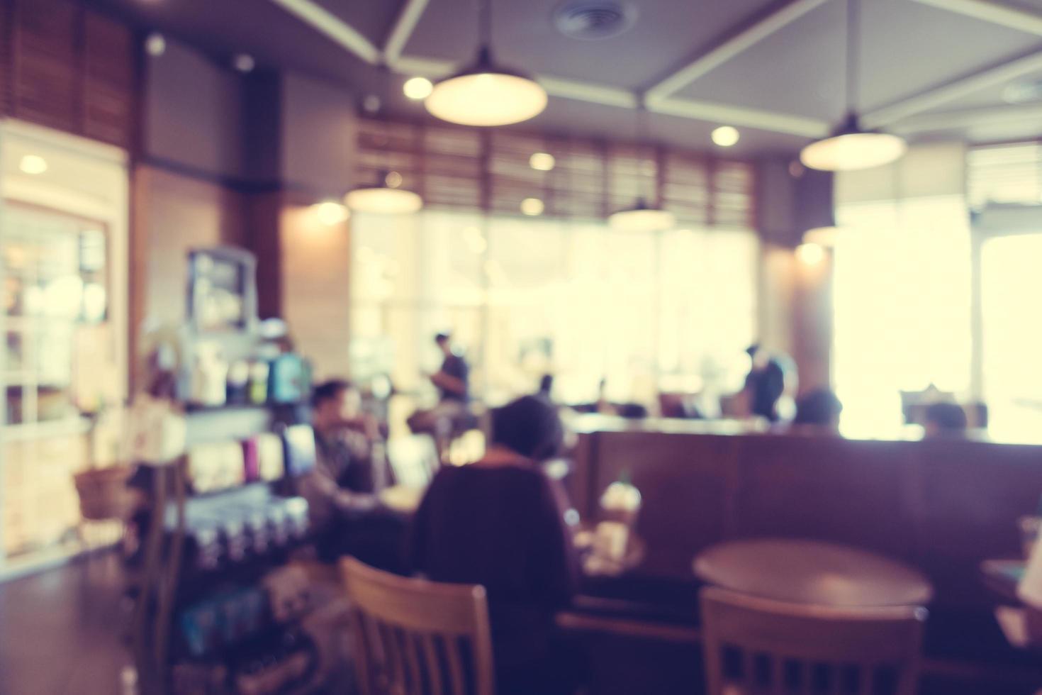 flou abstrait et café défocalisé photo