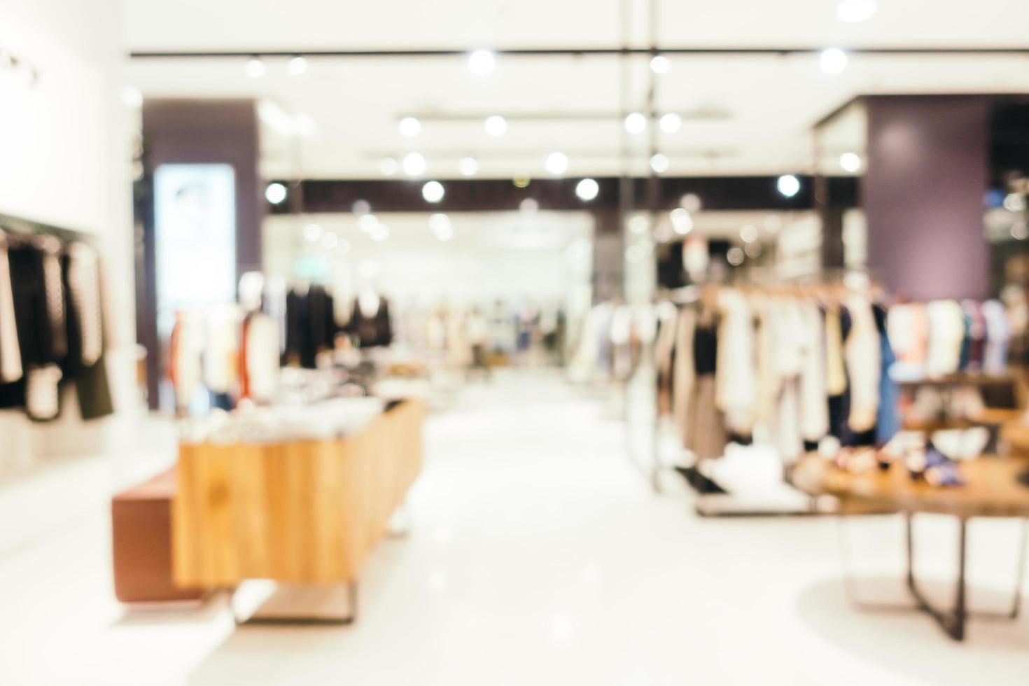 flou abstrait et centre commercial défocalisé du grand magasin photo