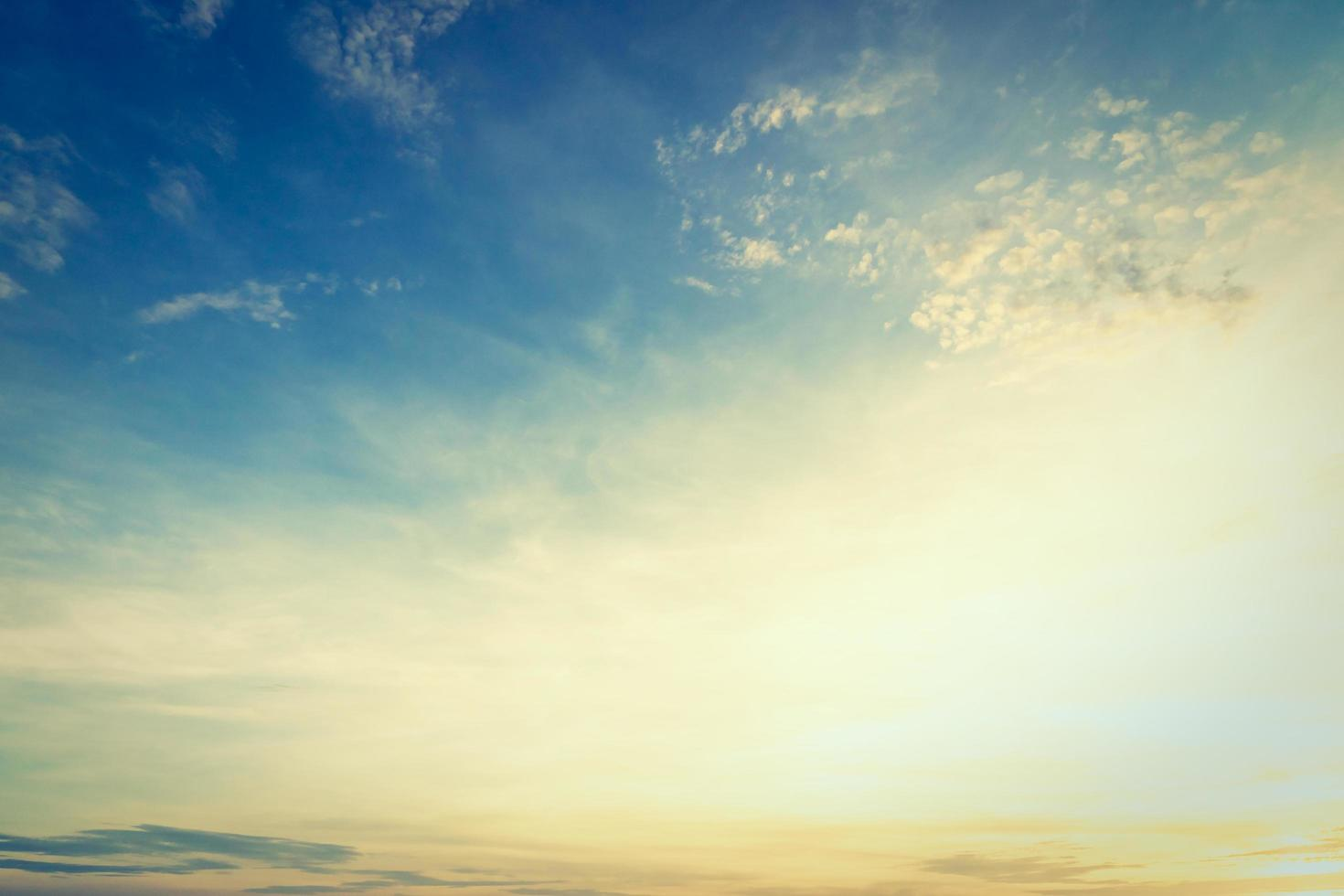 lever de soleil et ciel photo