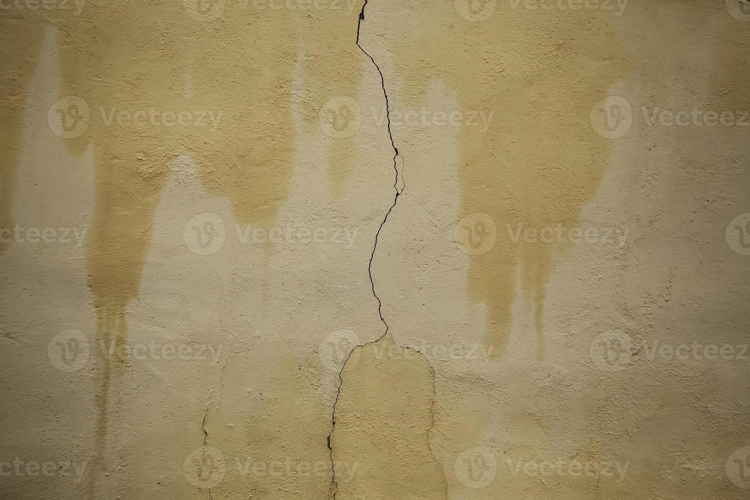 mur de ciment fissuré photo